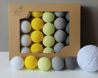 Cotton Balls Smokey Yellow 10 items