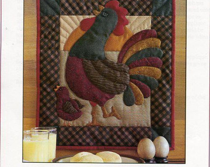 Free Us Ship  Rachel's of Greenfield RISE & SHINE Rooster Chicken Hen French Country Quilt Craft Sewing Pattern New
