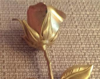 On Sale Vintage Rose Brooch