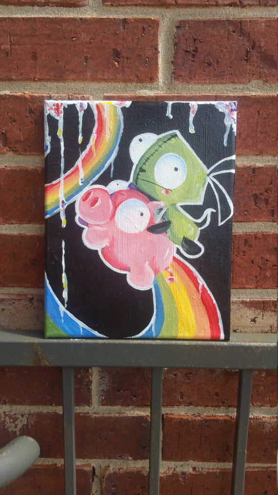 Invader Zim Oil Painting