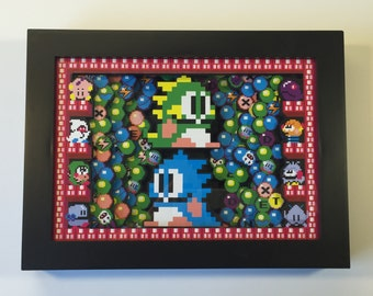 "Bubble Bobble 3D Arcade Shadow Box Mini 5"" x 7"""