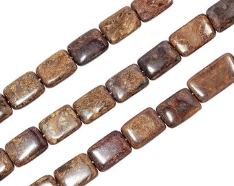 15 1/2 IN Strand 15x20 mm Bronzite Rectangle Smooth Gemstone Beads (BRZREC2735)