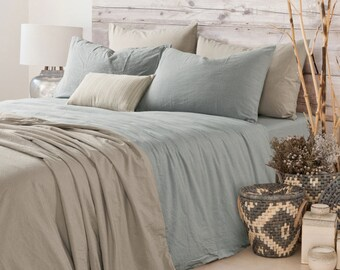 Duck Egg Blue linen duvet cover, linen duvet cover, blue duvet cover, blue bedding, queen duvet cover, king duvet cover, linen bedding