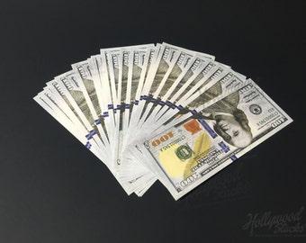 Prop Money 10,000 ** 100 FULL PRINT ** 100 Bill New Style