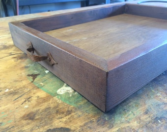 Large rustic serving tray, beautifully hand-crafted from reclaimed pine or cedar from the Pacific Northwest.