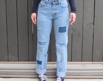 SALE* High Waist Vintage Patchwork Jeans