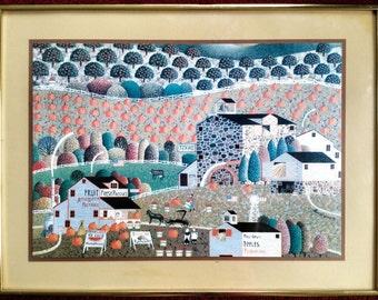 Leo Bryant Higgins Melon Farm Early American Life Landscape Framed Matted Print