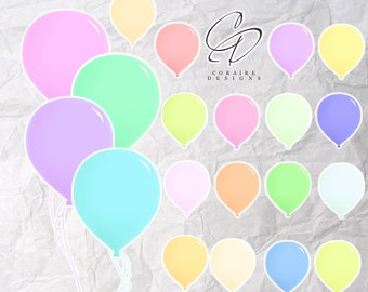 Pastel Balloon Clipart Create Your Own Displays For Invitations and Posters