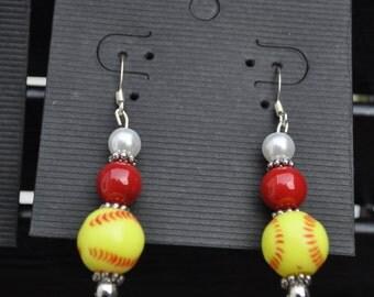 Homemade Softball earrings