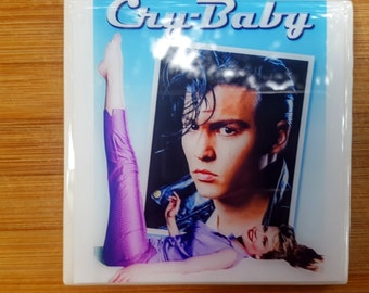 Single Tile Drink Coaster Cry Baby John Waters Johnny Depp 80s Movie Poster Drink Coaster