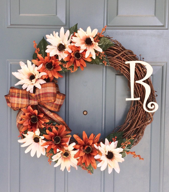 Garland For Front Door: Front Door Wreath Door Wreath Spring Door Wreath
