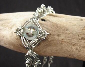 Wirework Bead Isolation Bracelet