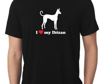 I Love My Ibizan T-Shirt v2 hound T760
