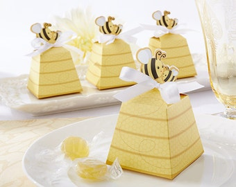 Sweet As Can Bee Mom and Bee Beehive Favor Boxes (Set of 24), Baby Shower Decorations