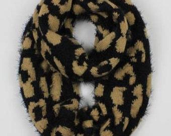 Leopard Eyelash Infinity Scarf