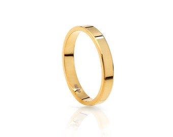 alliance gold ring, Gold plated silver ring - Gold ring - bridesmaid gold ring - Minimal jewelry - simple ring