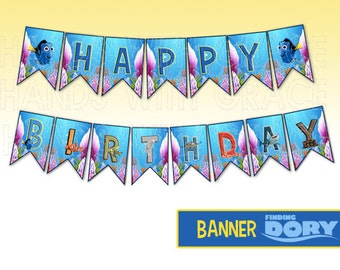 "Printable Banner ""Finding Dory"" party (Instant download)"
