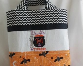 Trick or Treat Bag * Halloween Bag * Halloween Tote * Halloween Purse * Halloween Tote Bag *