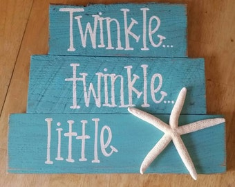 Twinkle,  twinkle little starfish. Multiple colors available.