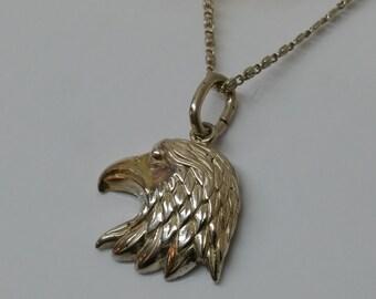 Eagle head pendant of Silver 925 Silver SK663
