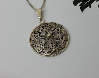 Nostalgic 835 silver pendant filigree Art Nouveau SK601