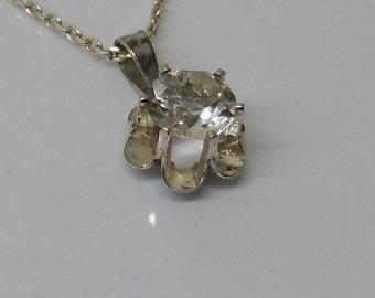 Pendant silver 800 Nica Crystal vintage SK742