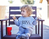 BOSS Kid Long or Short Sleeve Unisex Tshirt | Kid Shirts, Daddy Son, Boys Tshirt, Boys Shirt, Girls Tee, Matching Father Son Tee Shirts