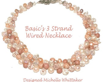 Begginers  3 Strands Wired Twisted Necklace Tutorial PDF