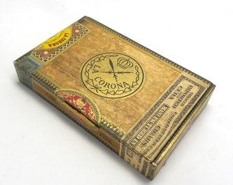 Vintage La Corona Cigar Box