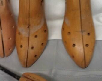 Wood shoe Stretchers- Shapers-Shoe Lasts Lot of 4