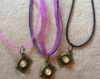 Camera Gem Necklace