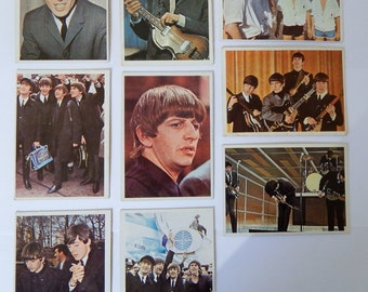 1964 Beatles Color Cards Trading Cards (9 cards)