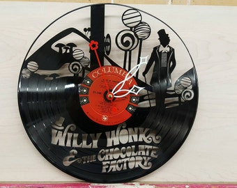 Willy Wonka and the Chocolate Factory Vinyl Clock