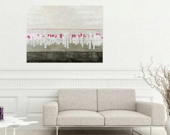 "Abstract Painting, Canvas Wallart, Original Artwork, DutchArt,Acrylic Painting, Abstract 47,2 x 39,4"" Handmade by Andrea Janssen"