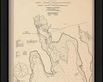 New Bedford, Fair Haven, & Padanaram  - Nautical Chart by George W. Eldridge 1901
