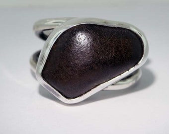 Sterling Silver with Gravel - Size 4