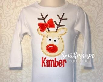 Christmas Shirt, Girls Christmas Shirt, personalized Christmas Shirt, Reindeer Shirt, Holiday Shirt! Leopard Christmas Shirt, sequin