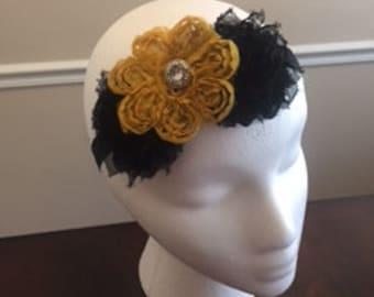 Vintage inspired handmade flower headband