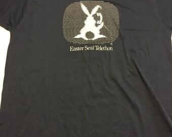 Vintage 80s Easter Seal Telethon T Shirt