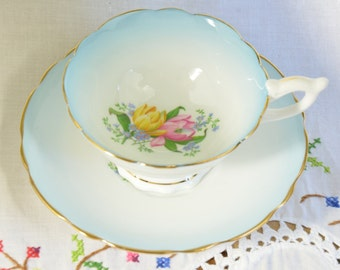 Blue Royal Stafford tea cup and saucer