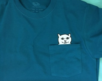 Cat Middle Finger/Dog Middle Finger Pocket TShirt