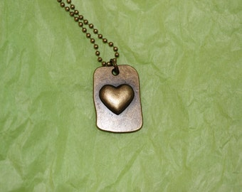 heart dog tag necklace