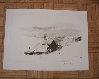 The Corner - ANDREW WYETH [after] - Color offset lithograph