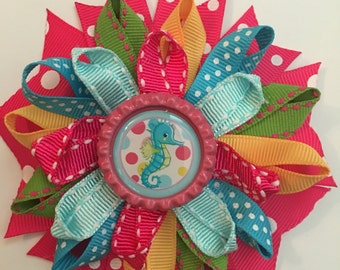 Seahorse Loopy Hairbow