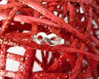 Bague d'amour Infinity Argent Sterling 925  **FREE SHIPPING**Cadeau idéal
