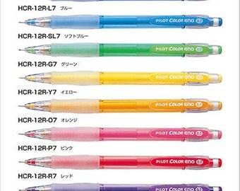 8 X Pilot Color Eno Mechanical Pencil - 0.7 mm 8 COLORS Pencils SET.
