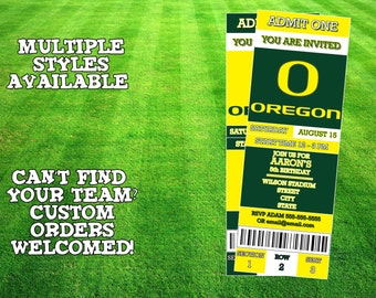 Oregon Ducks Invitation