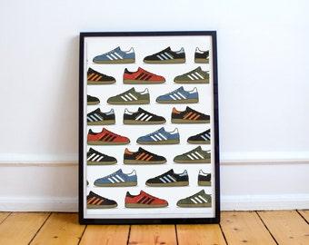Adidas spezial artwork - poster / print