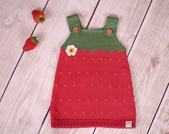 Baby dress knitting dress Strawberry