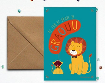 "Map ""Lion"" - kraft envelope"